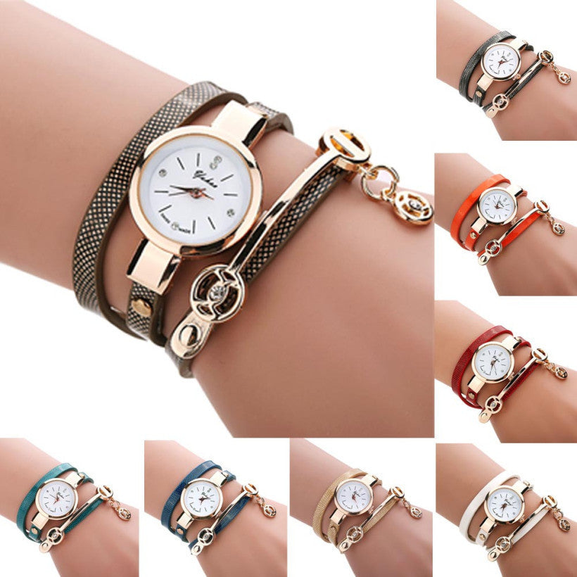 Creative Fashion Wrist Quartz Watches Women Leather Strap Band Popular Watch Shopping Travel Casual Quartz-watch