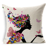 New Rural style Home Decor Cushions Bicycle Girls Style Car Home Decorative Throw Pillows Cushion