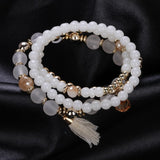 Fine Sterling Jewelry Bracelets & Bangles Pearl Bracelet For Women Multilayer Design Imitation Turquoise Bead Bracelets