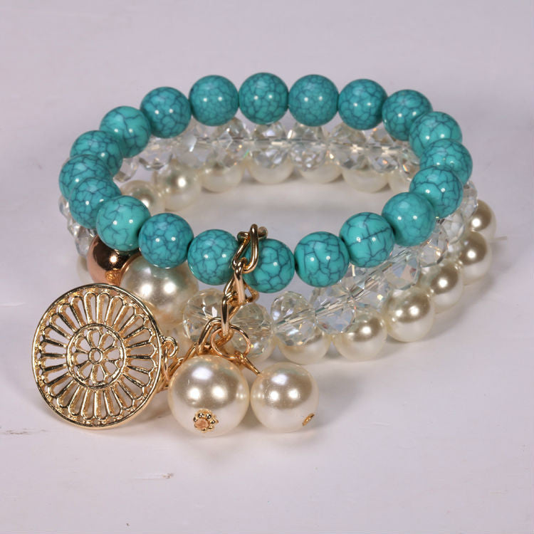 Fine Jewelry Round For Women Special Offer Real Bracelet Loom Band Unique Most Popular Design Imitation Turquoise Fashion