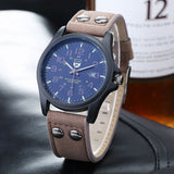 Relogio Hombre Luxury Famous Double Buckle Design Brand sports Men Watch Quartz Wristwatches quality Scrub leather army watches