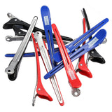 Pro 12PCS/Pack Aluminum Metal Professional Hairdressing Salon Section Hair Grip Clips Styling Tools