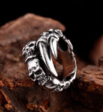 New Open Skull Hand Ring Stainless Steel Man's Fashion Jewelry Biker Punk Jewelry