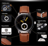 Men Brand SKONE genuine Watches 30m waterproof leather women & Men's Watch Business Casual Fashion Quartz Watches