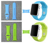 Silicone Bands Sport Watch Band For Apple Watch 38MM S/M 38MM M/L 42MM S/M 42MM M/L Size Strap
