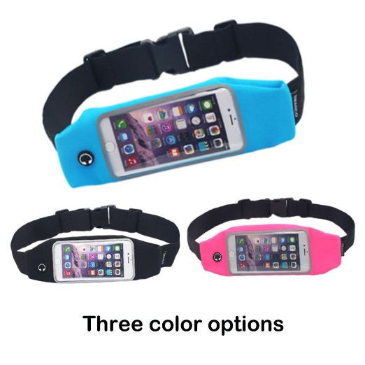 Waist Pack, Adjustable and Touchscreen Running Belt for iPhone6, iPod, Keys, Cash and Credit Cards
