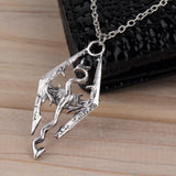 New Dinosaur Pendant Necklace Skyrim Elder Scrolls Dragon Pendants Vintage Necklace for Men/Women Jewelry