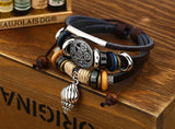 Handmade Braided Charm Genuine Leather Bracelet Women Fashion Conch Shells Bracelets Bangles Korean Jewelry