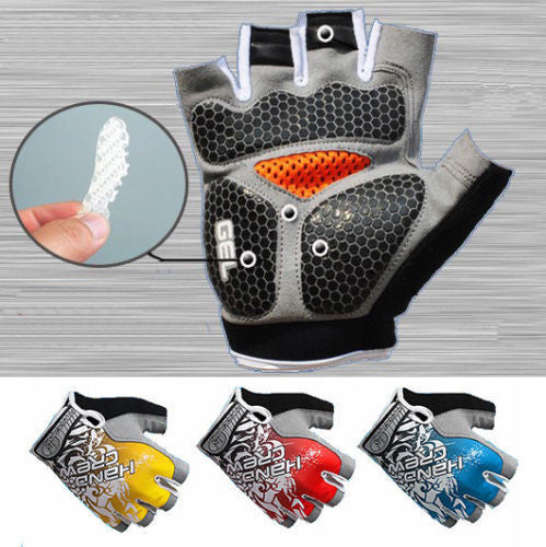 Hot Sale Bike Gloves New Fashion Cycling Bike Bicycle Gel Shockproof Sports Half Finger Glove M-xl 4 Color Options