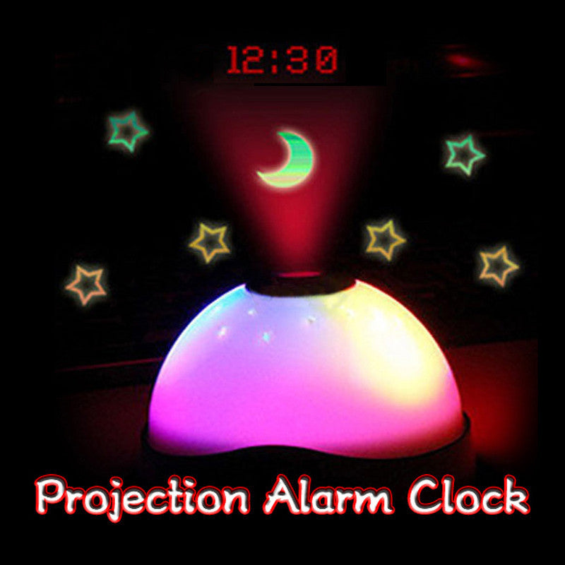 Starry Digital Magic LED Projection Alarm Clock Night Light Color Changing