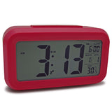 Digital LCD Screen Mini Desktop LED Alarm Clock Multi-function With Control Backlight + Snooze + Calendar + Thermometer