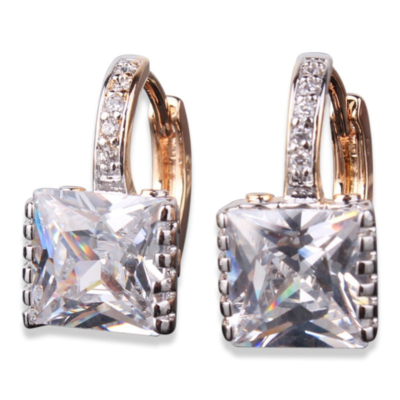 Good Quality Jewelry Earrings for Womens! New Shiny Rhinestone Gem Hoop Earing Ladies Wedding Jewellery Earrings
