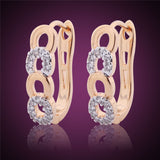 New Style Ladies Huggie Earrings Fashion Desirable Round Brilliant White Topaz Earing Chic Woman Hoop Earrings