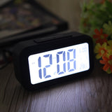 Digital Backlight Time Date Temperature Display Red Green Blue Black LED Alarm Clock Repeating Snooze Light-activated Sensor