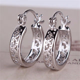 Small Earrings Fashion Classic Hollow Out Round Hoop Earring For Women High Quality Brinco Earings Ladies Jewellery