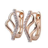 Unique Jewelry Earrings for Women Crystals Zirconia Horseshoe Huggie Hoop Earrings Hot Sale Brinco Bijoux Earings Ladies