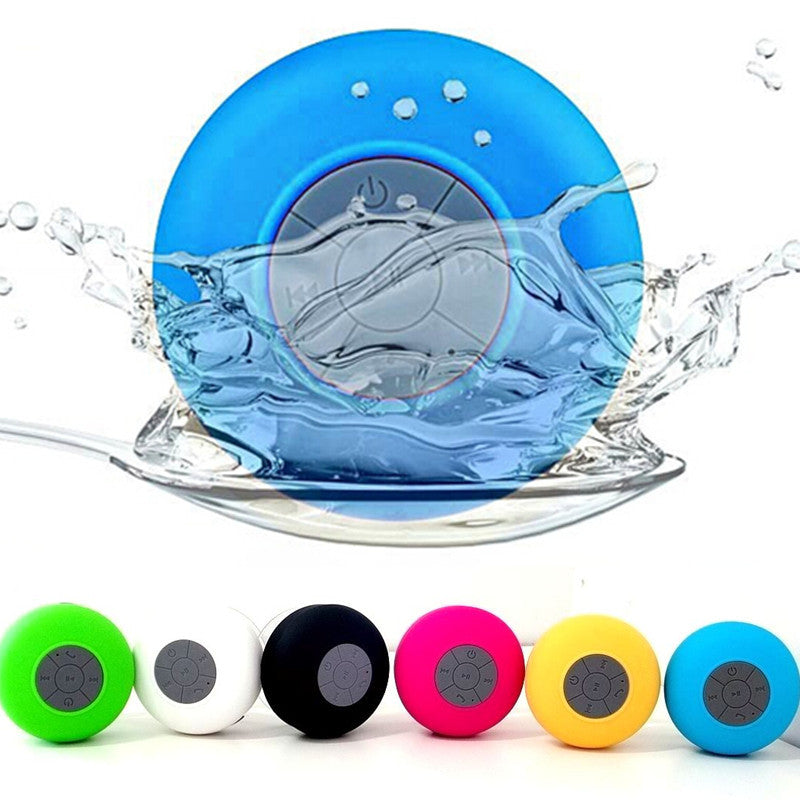 Stereo Blutooth Mini Subwoofer Wireless Portable Shower Bluetooth Speaker Waterproof Audio Receiver for iPhone Samsung Phones