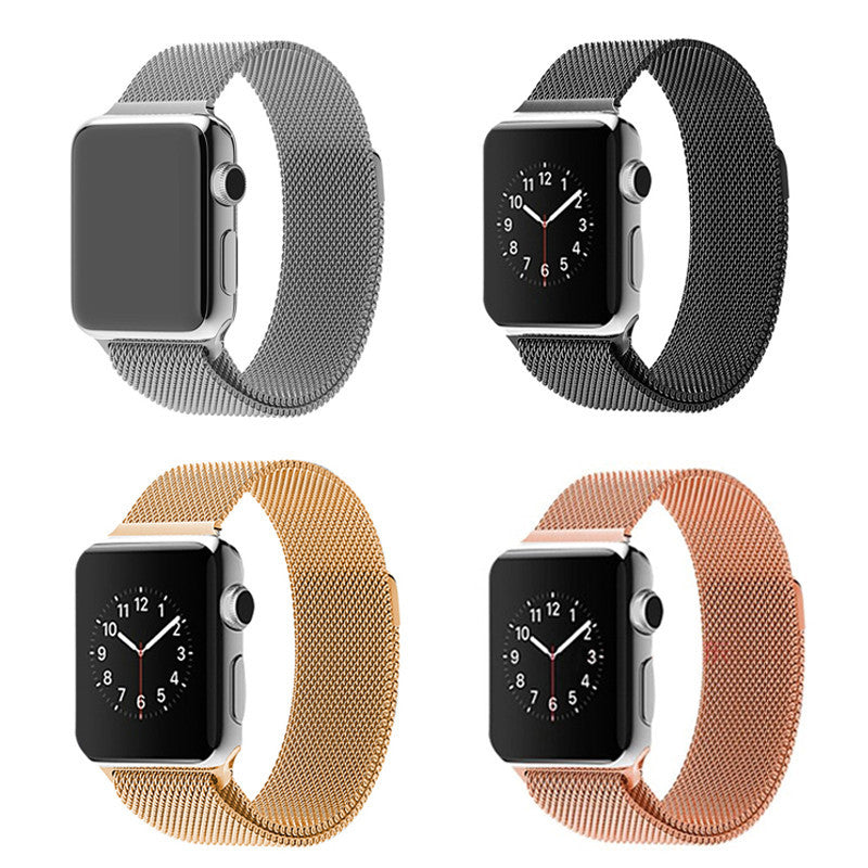 Original Link Bracelet strap & Milanese Loop watchbands Stainless Steel band for apple watch 38mm / 42mm Watchband