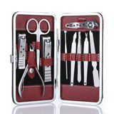 10 in 1 Stainless Steel Manicure Pedicure Ear pick Nail Clippers Set Care Products