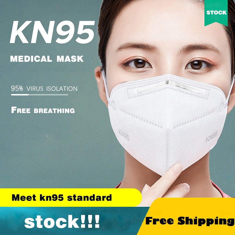 10 pcs/bag KN95 Dustproof Anti-fog And Breathable Face Masks 95% Filtration Mouth Masks 4-Layer Mouth Muffle Fast Shipping