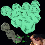 Erotic Craps 12 Sides Sex Dice 2 PCS Glow In The Dark Erotic Dice Night Lights Love Dice of Sex Fun Toys Noctilucent Erotic Toys