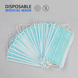 20 PCs Protective Surgical Mask Non-woven Dust Mask Thickened Disposable Mouth Mask 3-layer Face Mask