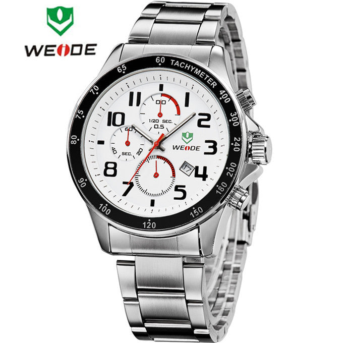 New WEIDE Watches Men Military Quartz Sports Watch Luxury Brand Mens Full Steel 30m Waterproof Casual Dress Wristwatches