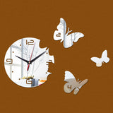 New Europe Acrylic 3d Sticker Wall Stickers Home Decor Poster Mirror Wall Clock Large Still Life Kitchen Butterfly Horse