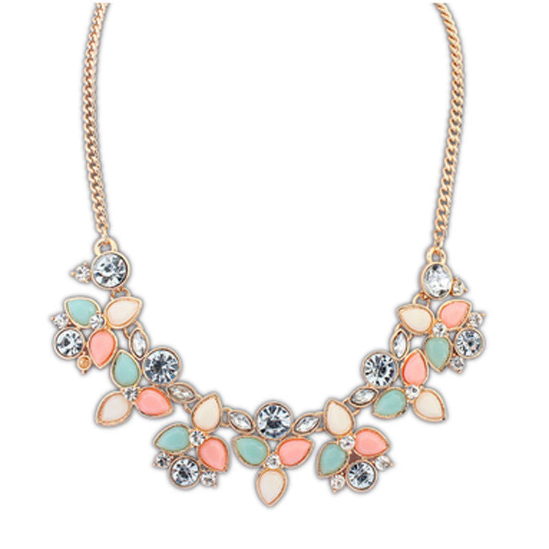 New Fashion Brand Designer Chain Choker Vintage Rhinestone Necklace Bib Statement Necklaces & Pendants Women Jewelry