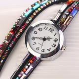 New Style Fashion Women Dress Watches Quartz Colorful Flannel Leather Luxury Gift Children Casual High Quality