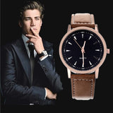 New Leather Strap Fashion Casual Round Dial Men Sports Watches Wristwatches