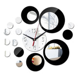 new sale mirror watch wall clock clocks quartz living room needle acrylic 3d home modern design stickers