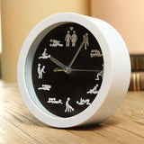 New Arrival Cre-ative Cultural Arts Sex Clock Novelty Sexy 12 Position Patterns Funny Circular Desk Table Clock Classic White