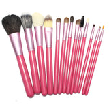 High Quality Newest Pro 13 PCS Powder Blush Makeup Brush Cosmetic Brushes Set Kit + Cup Holder Case