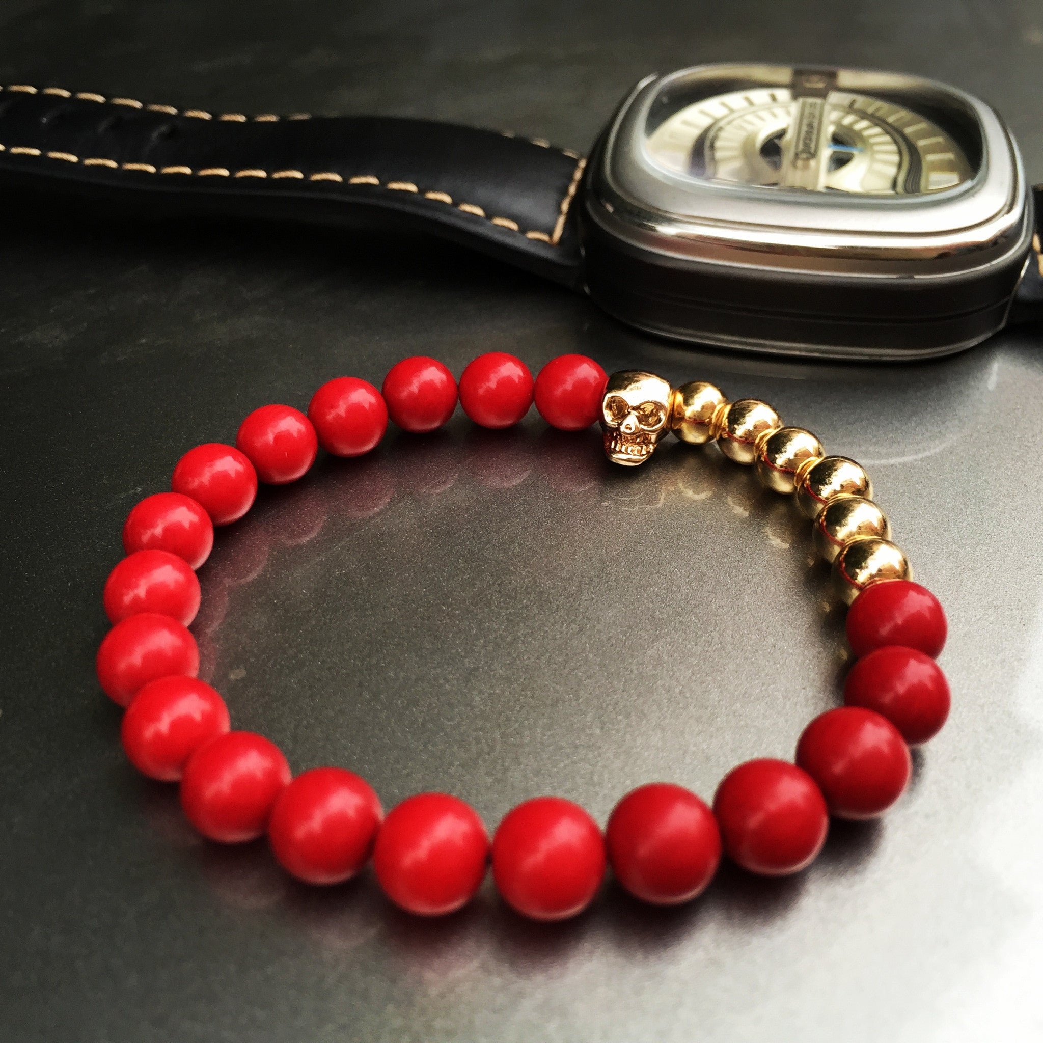girl north northskull bracelet coral high new quality red men products skull fashion bracelets rock women charm