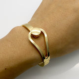 New Design Gold & Silver Plated Elasticity Bracelets & Bangles Simple Elegant Fashion Women Open Bangle
