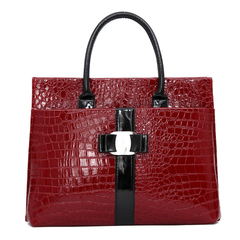New Luxury OL Lady bags handbags women famous brands Crocodile Pattern Hobo Handbag Tote Fashion Lady PU Shoulder handbag
