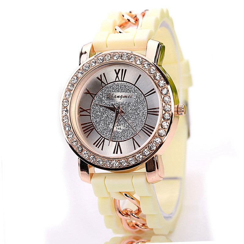 Silicone Watch Fashion Women Luxury Dress Watches Summer Style Bracelet Watch Famous Brand Women Female