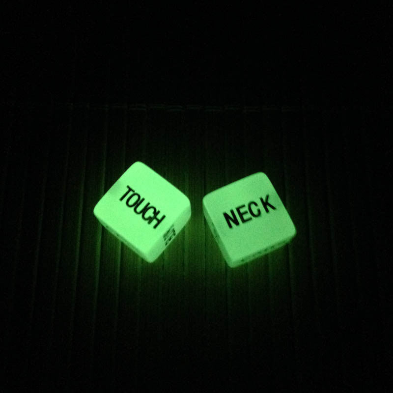 Sex dice sexy game 6 sided gambling adult love romance luminated notilucent 2pcs/lot=1 pair