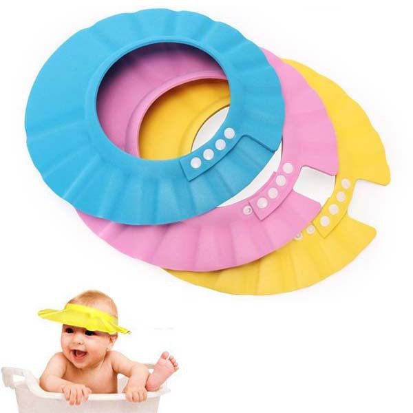 Soft Baby Kids Children Shampoo Bath Shower Cap Adjustable Baby Shower Hat Baby Shampoo Cap Wash Hair Shield
