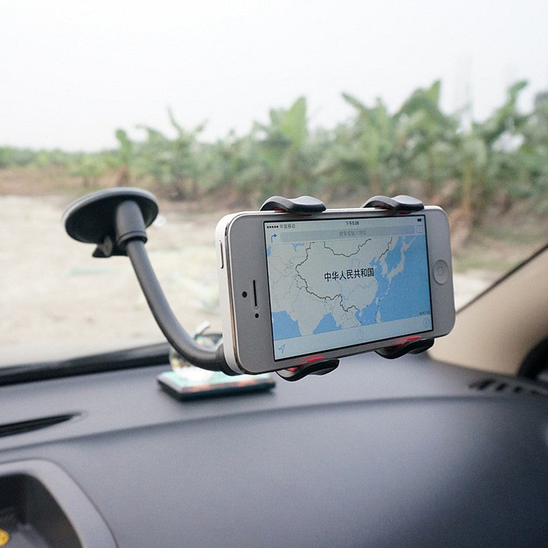 360 Degree Universal Car Phone Holder Windshield Mount Bracket Mobile Phones Holder for iPhone Plus Galaxy Note 2 3 S4 S5