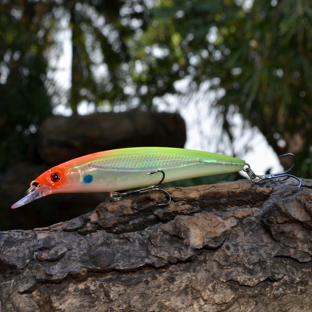 New 3D Eyes Minnow Hard Fishing Lure 14g 11cm Plastic Pesca Fish Lures Crank Bait Fishing Tackle With Treble Hook Diving 2M -3pcs/lot