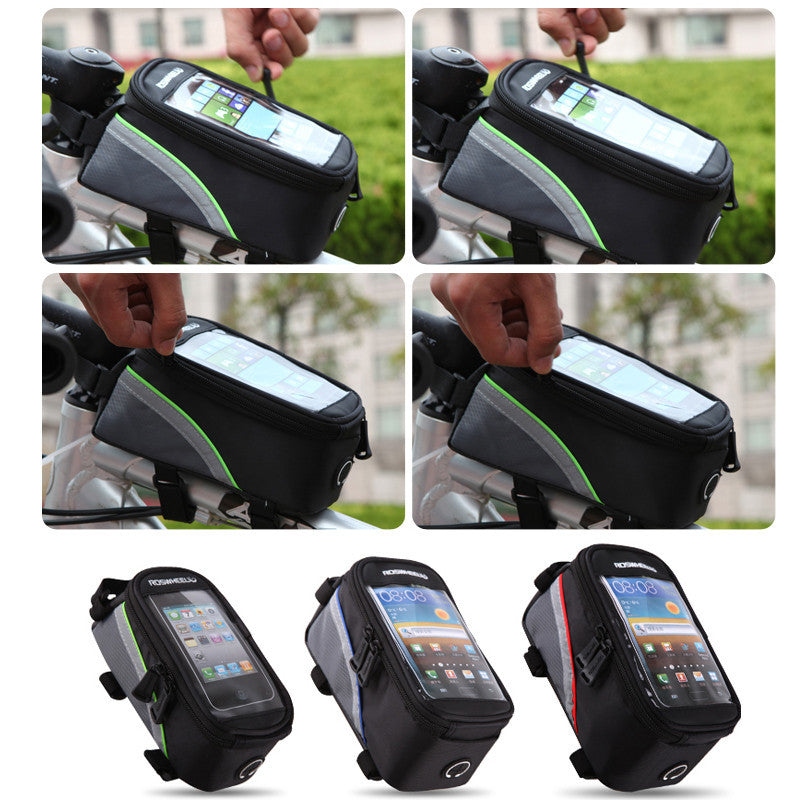 4.8 inch-3 Colors Waterproof Outdoor Cycling Mountain Road MTB Bike Bicycle bag Frame Front Tube Bag for Cell Phone PVC 4.8''