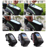 4.8 inch-3 Colors Waterproof Outdoor Cycling Mountain Road MTB Bike Bicycle bag Frame Front Tube Bag for Cell Phone