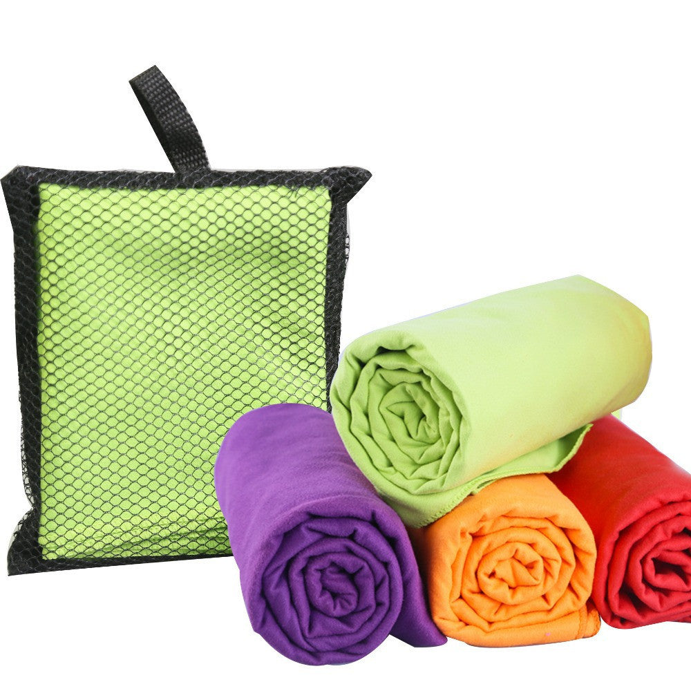 Microfiber Sports Towel Travel Jogger Cloth With Bag toalha de esportes Camping Swim Gym Washcloth 4 colors 1pcs/lot 40x75cm