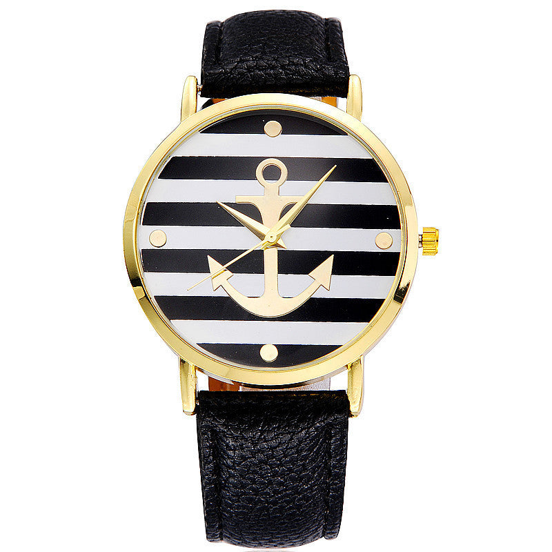 New Fashion Leather strap Anchor GENEVA Watches Casual Women Wristwatch Luxury Brand Quartz Watch Relogio Feminino Gift