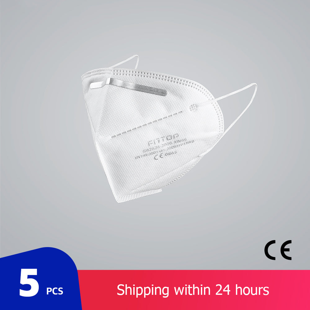 5 pcs/bag KN95 CE Certification Face Mask PM2.5 Anti-fog Strong Protective Mouth Mask FFP3 Respirator Reusable
