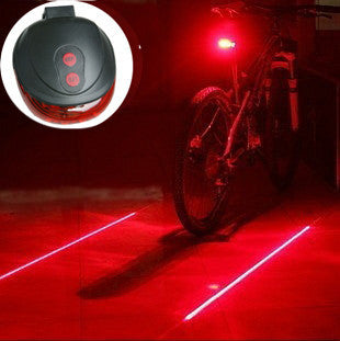 Cycling Safety Bicycle Rear Lamp Bike Laser Tail Light (5LED+2Laser)