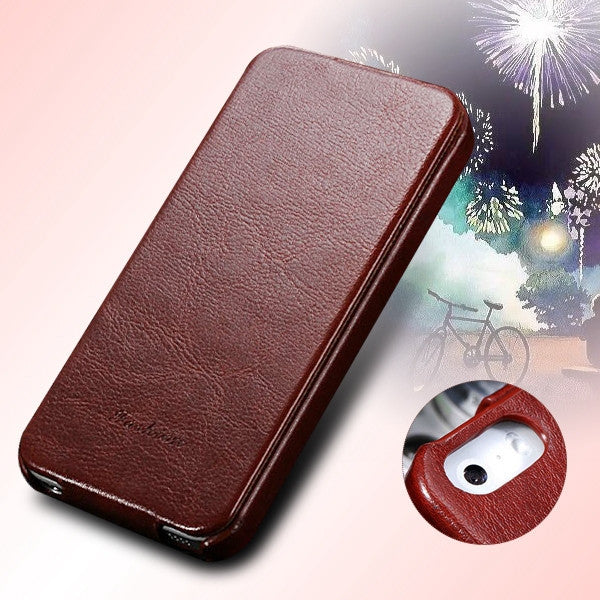 5s PU Leather Cover Original Flip Case For iphone 5 5S 5G Full Protective Skin With Fashion Buckle Ultra Slim Cell Phone Case