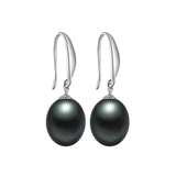 Black Pearl Earrings,AAAA High Quality 925 sterling Silver Jewelry For Women,Fashion Party Earrings